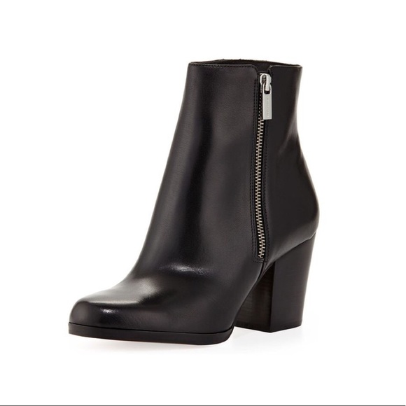 Michael Kors silvy leather ankle boots